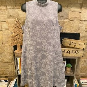 EUC—gray halter dress. ❤️